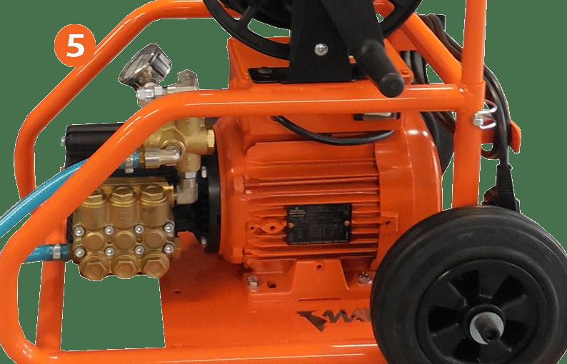 pompe de traitement avec châssis robuste