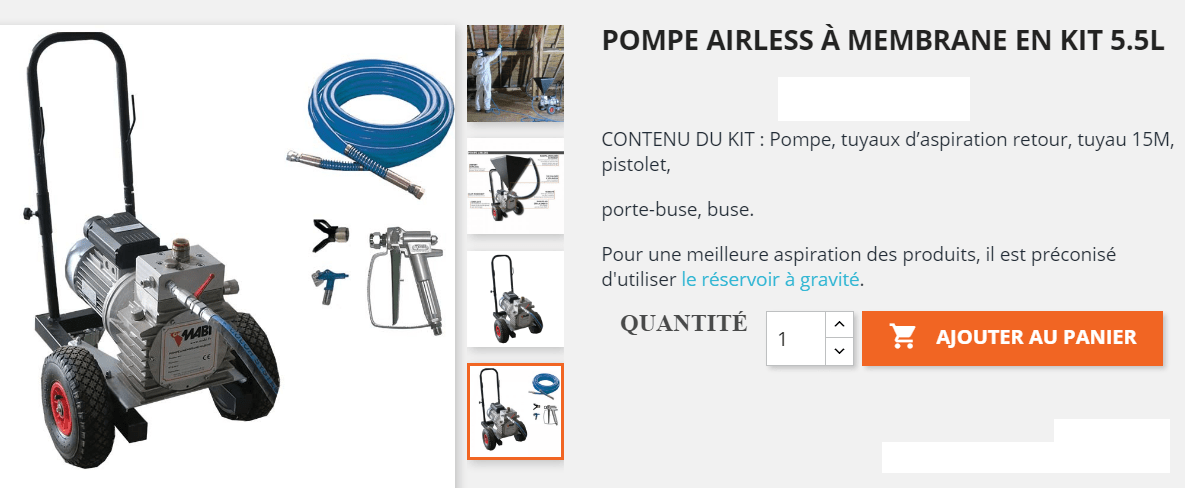 pompe à membrane airless traitement