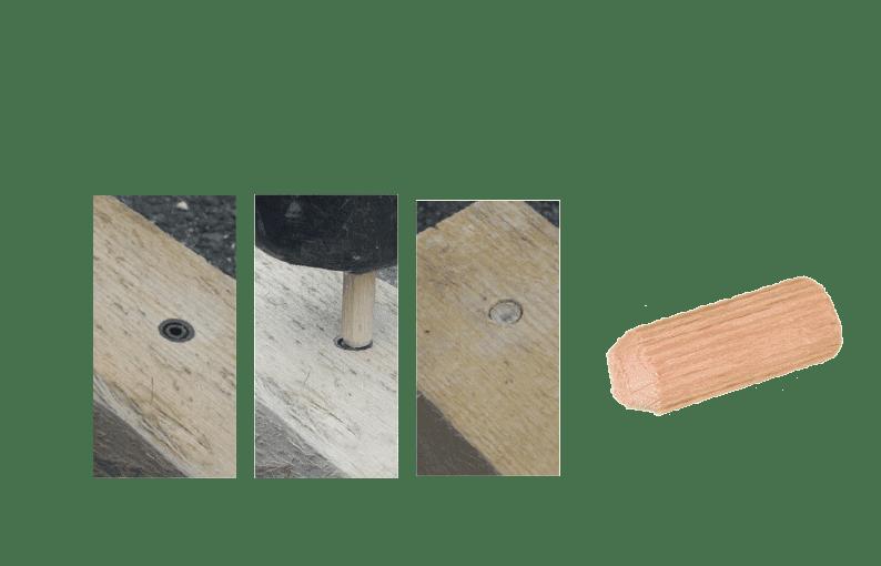 grooved wood dowels