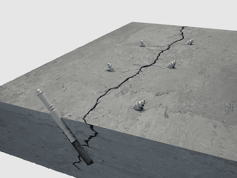 Concrete crack repair inject
