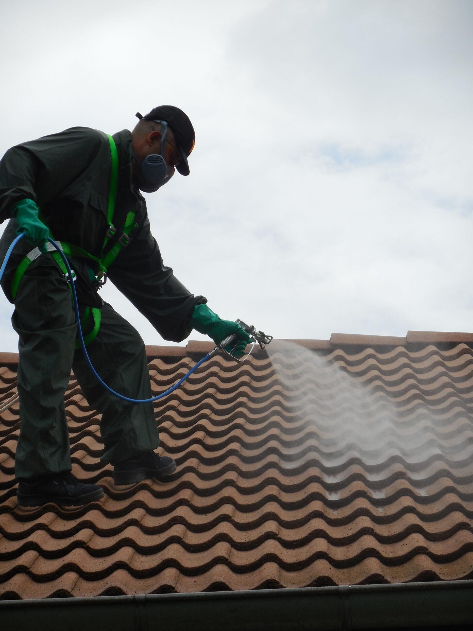 travaux toiture harnais de sécurité